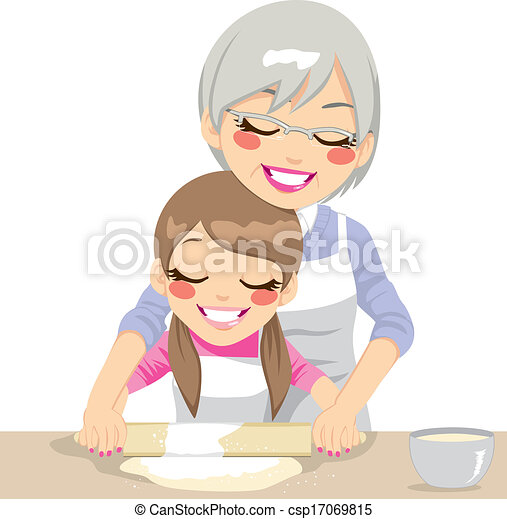 Making Pizza Dough Together - csp17069815