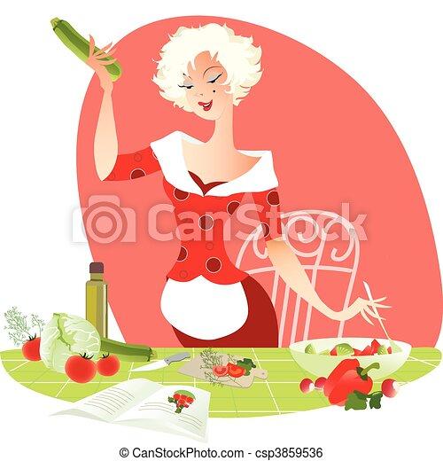 Making salad - csp3859536