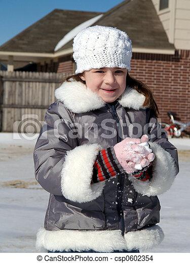 Making Snow Balls - csp0602354