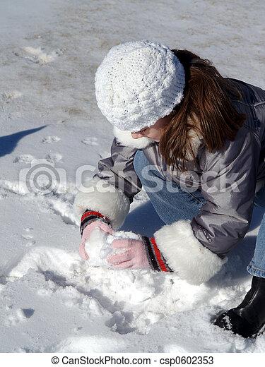Making Snow Balls - csp0602353