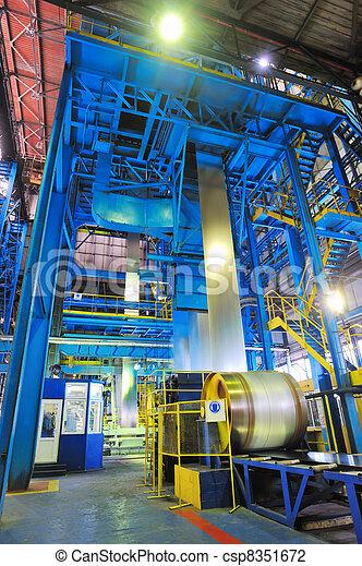 making the zinc rolls of steel sheet - csp8351672