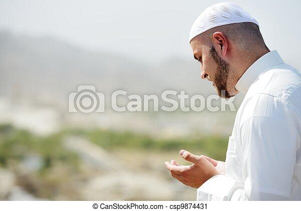 Makkah Kaaba Hajj Muslims - csp9874431