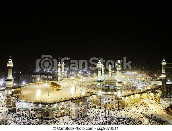 Makkah Kaaba Hajj Muslims - csp9874511