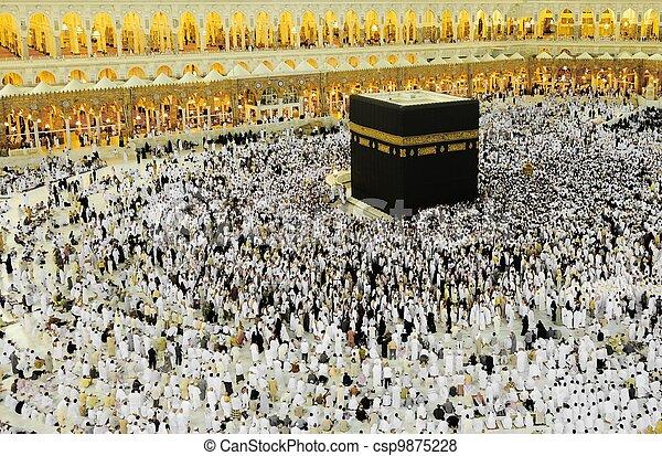 Makkah Kaaba Hajj Muslims - csp9875228