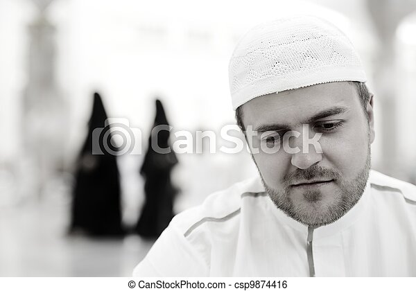 Makkah Kaaba Hajj Muslims - csp9874416