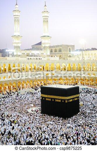 Makkah Kaaba Hajj Muslims - csp9875225