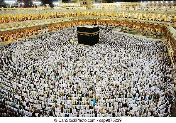 Makkah Kaaba Hajj Muslims - csp9875239