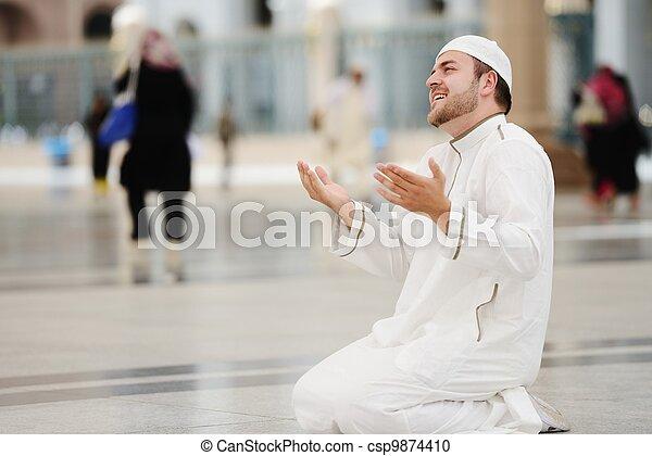 Makkah Kaaba Hajj Muslims - csp9874410