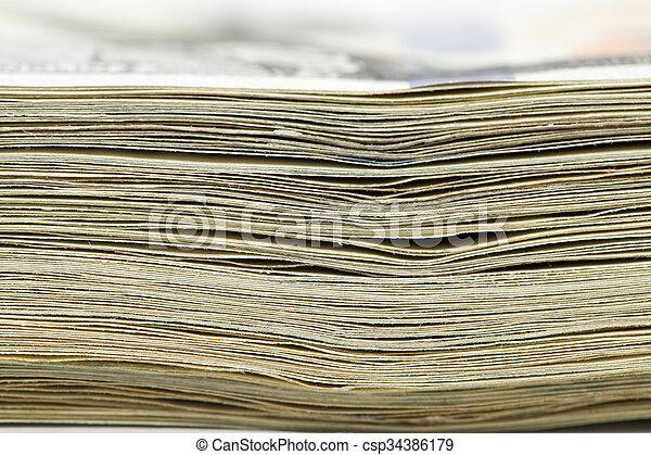 makro, pengar., stack - csp34386179