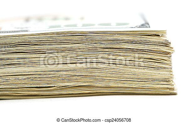 makro, pengar., stack - csp24056708