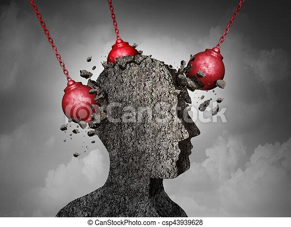 mal tête, concept, douloureux - csp43939628