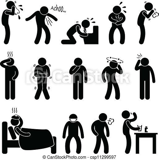 maladie, maladie, symptôme, maladie - csp11299597