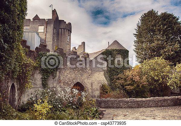 Malahide castle by autumn - csp43773935