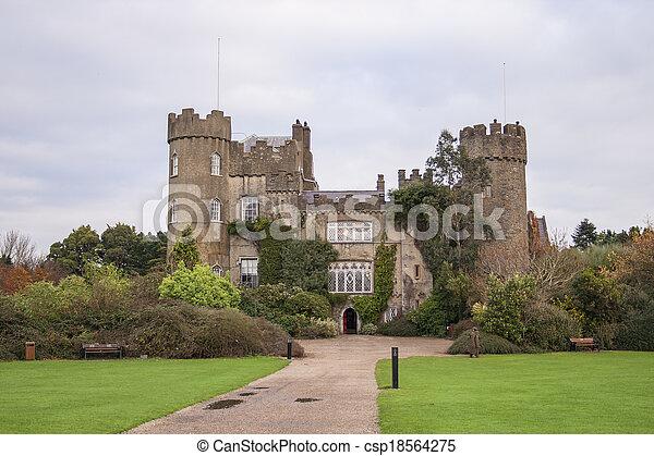 Malahide castle near Dublin - csp18564275