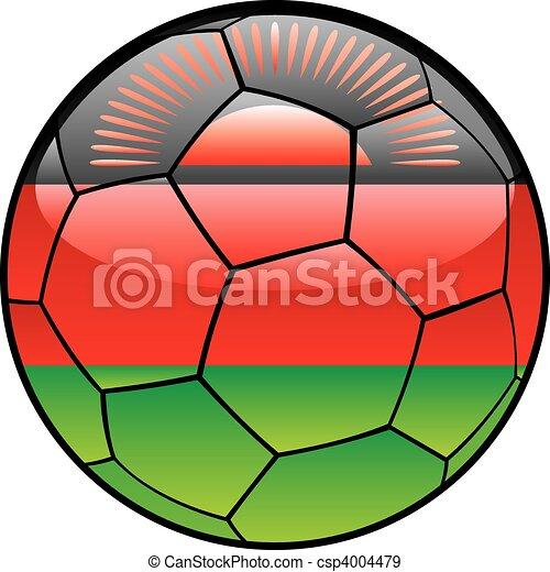 Malawi flag on soccer ball - csp4004479
