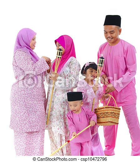 malay raya family - csp10472796