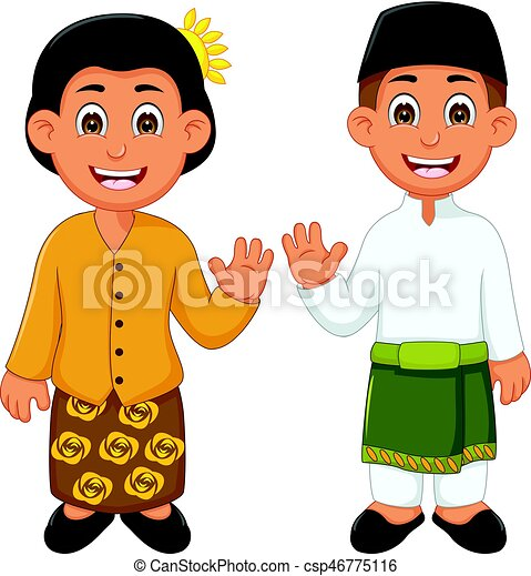 Malaysian People Clipart Vector illustration of...