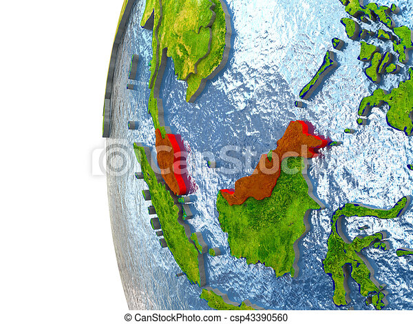 Malaysia in red - csp43390560