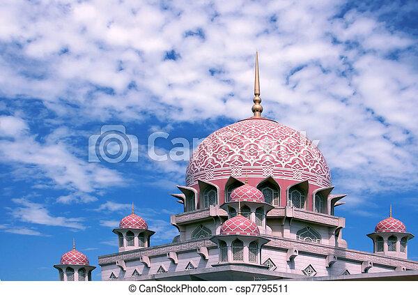 malaysia, moschea, putra - csp7795511
