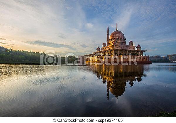 malaysia, putra, moschea - csp19374165