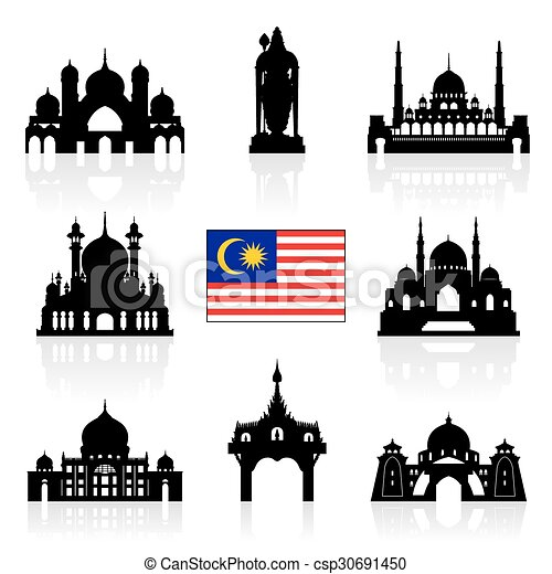 Malaysia Travel Landmarks - csp30691450