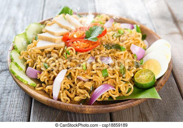 Malaysian cuisine maggi goreng mamak  - csp18859189