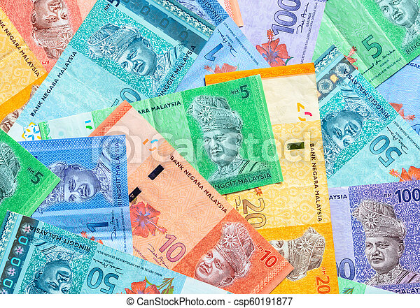 Malaysian ringgit banknotes background  Financial concept