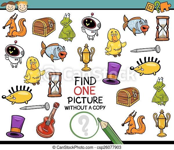 malba, svobodný, hra, karikatura, nález - csp26077903