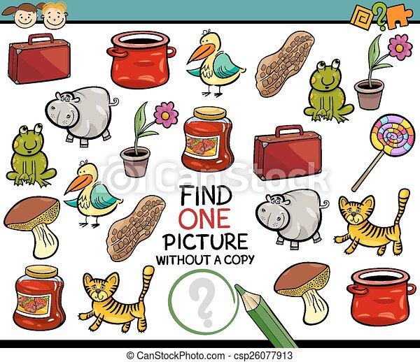 malba, svobodný, hra, karikatura, nález - csp26077913