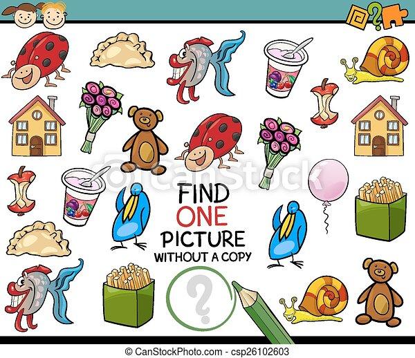 malba, svobodný, hra, karikatura, nález - csp26102603