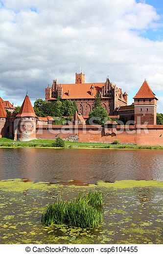 malbork, kasteel - csp6104455