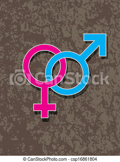 Male And Female Gender Symbol Interlocking Male And Female