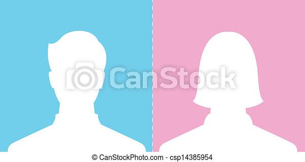 male and female profile picture - csp14385954