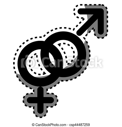 Male And Female Symbol Vector Illustration Design Clipart Vector