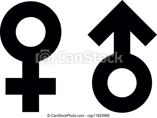 Male And Female Symbols Symbols For Male And Female Eps Vectors