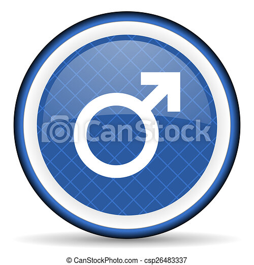 male blue icon male gender sign - csp26483337