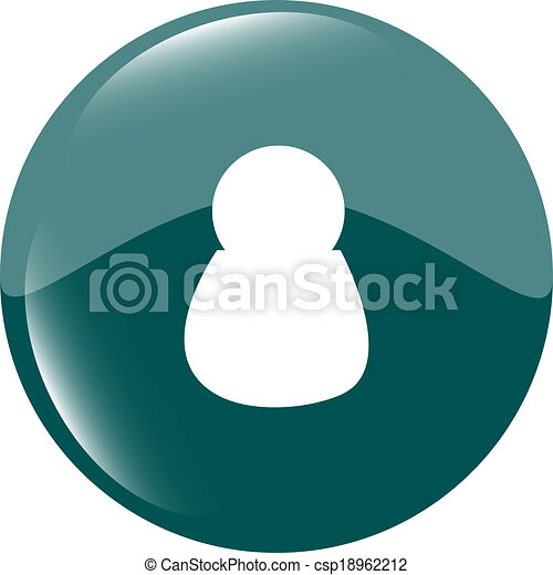 Male blue signs. web icon button isolated on white - csp18962212