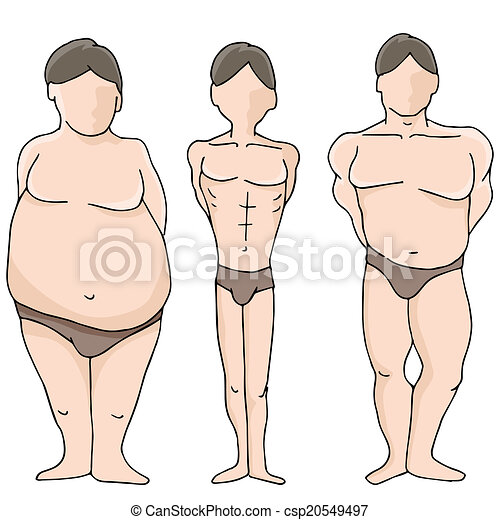 Male Body Shapes - csp20549497