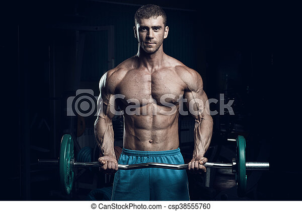 Male bodybuilder, fitness model - csp38555760