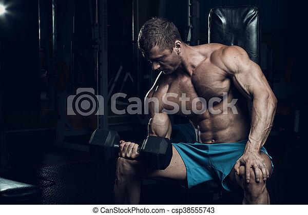 Male bodybuilder, fitness model - csp38555743