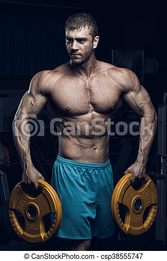 Male bodybuilder, fitness model - csp38555747