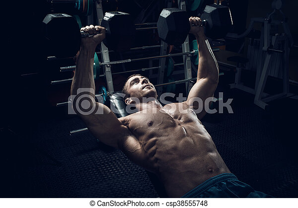 Male bodybuilder, fitness model - csp38555748