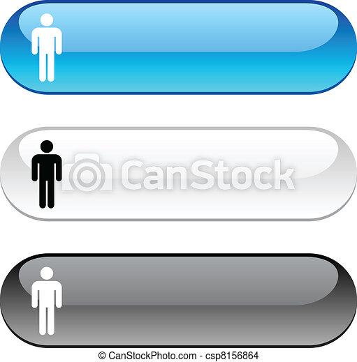 Male button. - csp8156864