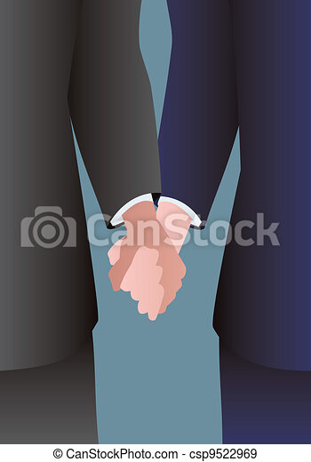 Male couple holding hands - csp9522969