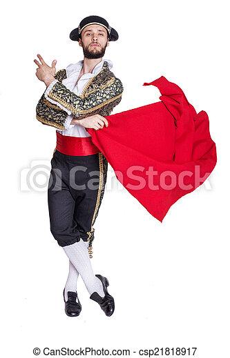 Male dressed as matador  - csp21818917