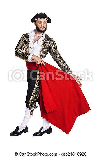 Male dressed as matador  - csp21818926