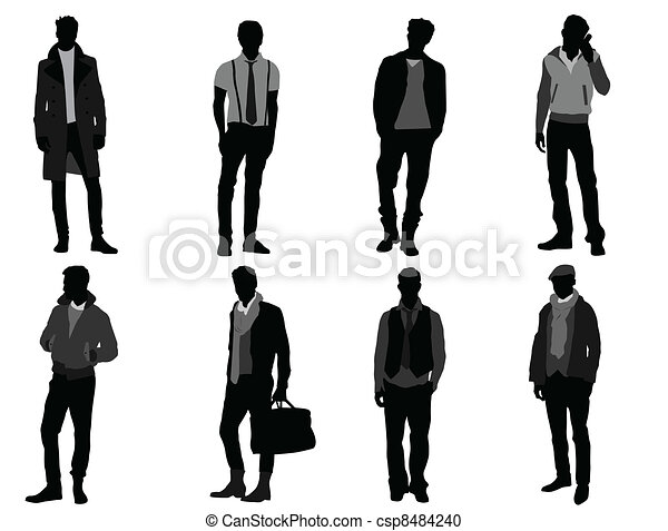 male fashion models rh canstockphoto com Vector Guy Male Icon Vector