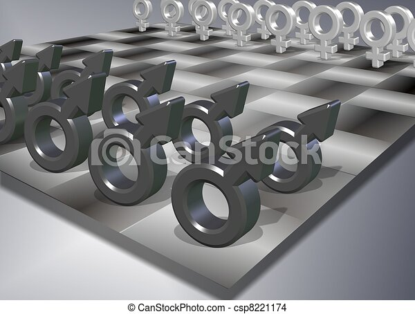 Male female chess - csp8221174