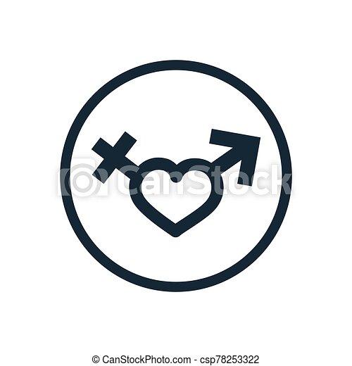 male female sign icon - csp78253322