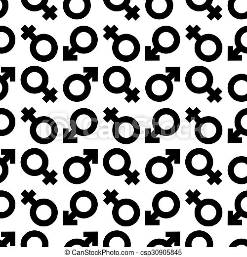 Male Female Symbol Background Simple Black And White Background